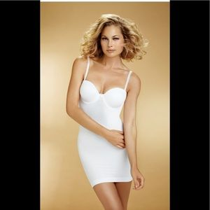 The Slenderizer with moulded Cups, white shapewear